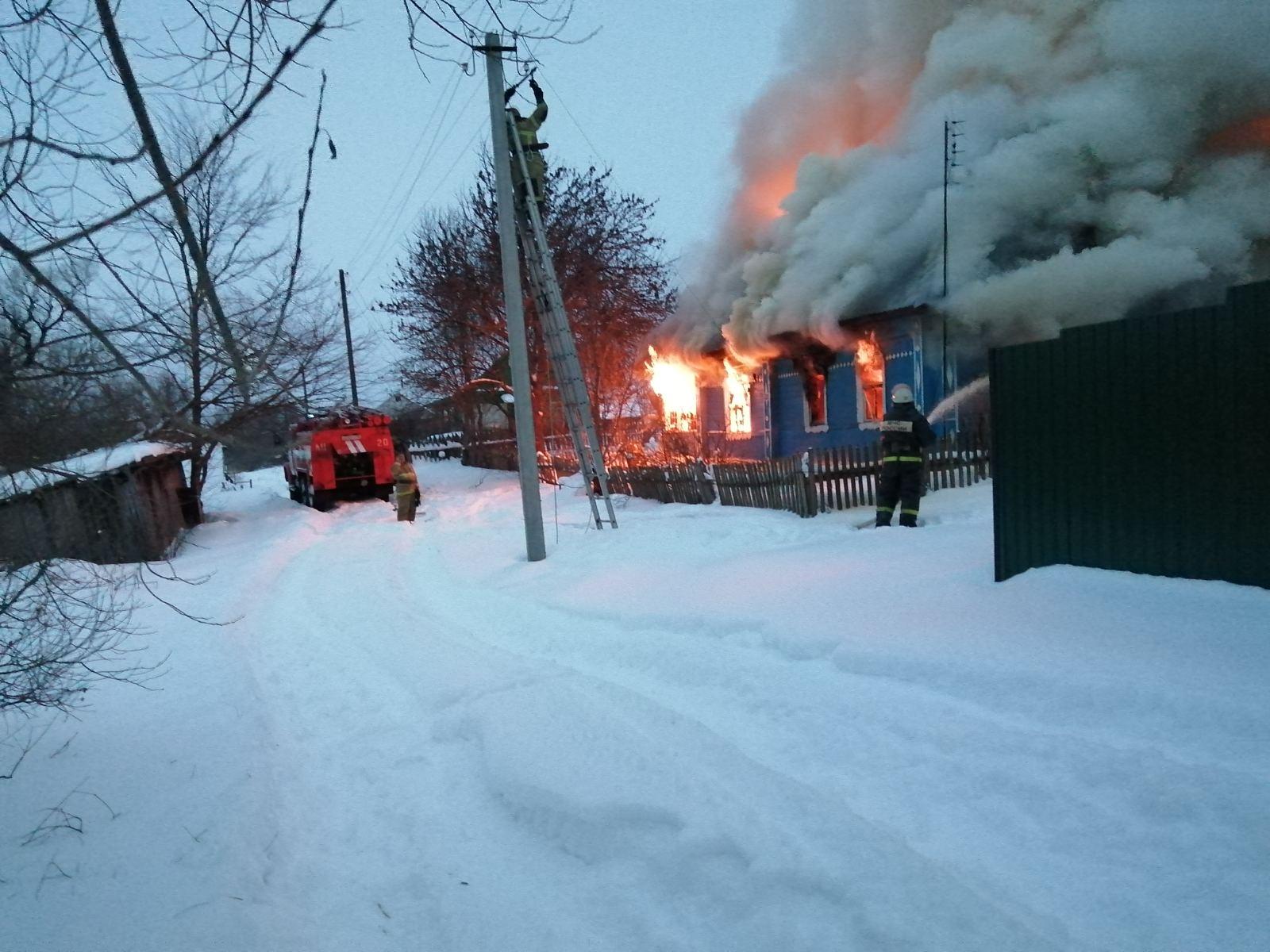 Пожар в Мосальском районе, д. Речицы