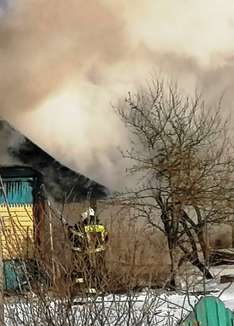 Пожар в Ферзиковском районе, п. Ферзиково, ул. Красноцветова
