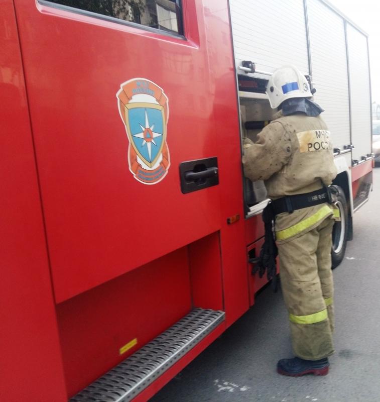 Пожар в Жуковском районе, д. Чериково, ул. Цветочная