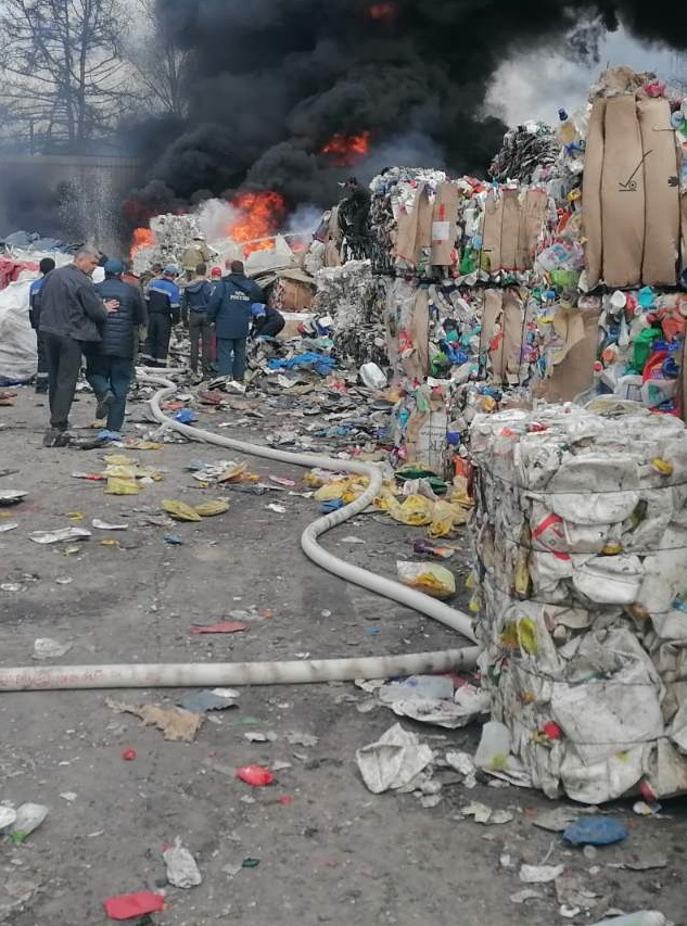 Пожар в Перемышльском районе, с. Перемышль, ул. Генерала Трубникова