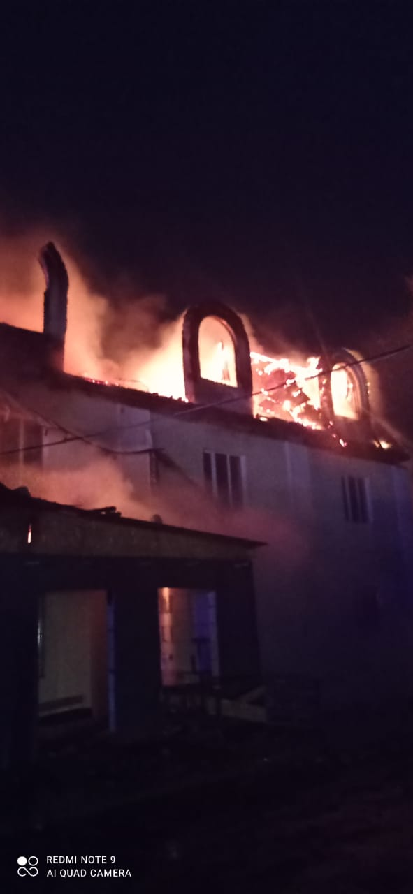 Пожар в Жуковском районе, д. Папино