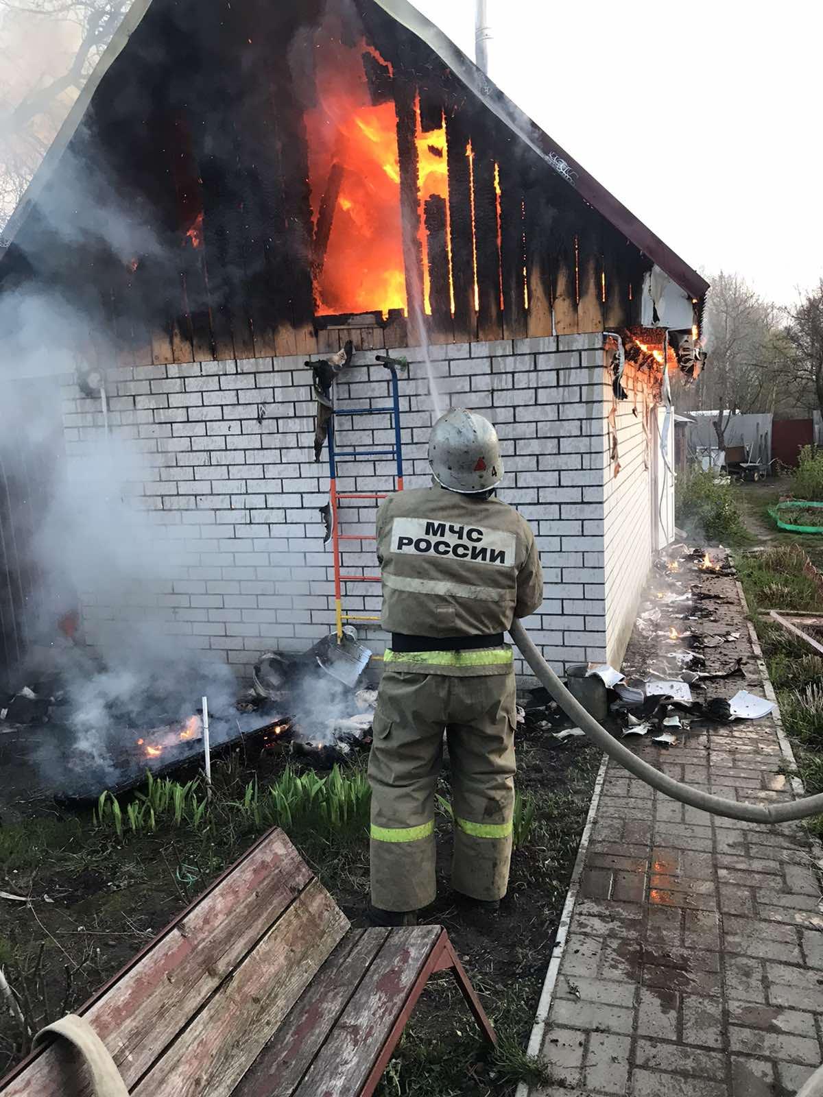 Пожар в г. Людиново, ул. Мичурина