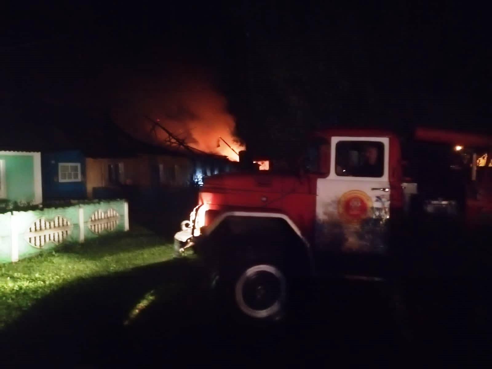 Пожар в Людиновском районе, д. Манино, ул. Центральная