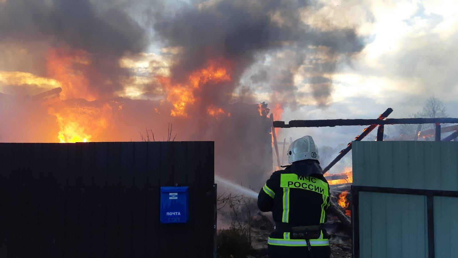 Пожар в Ульяновском районе, д. Мелихово