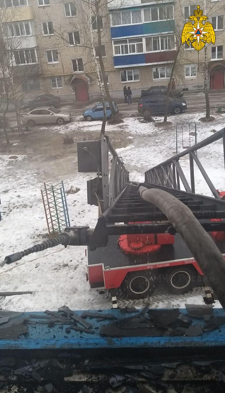 Пожар в г. Киров, ул. Бебеля — МЧС России по Калужской области