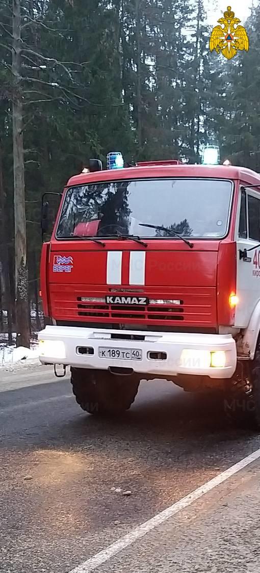 Спасатели МЧС принимали участие в ликвидации ДТП в Кировском районе, д. Жилино