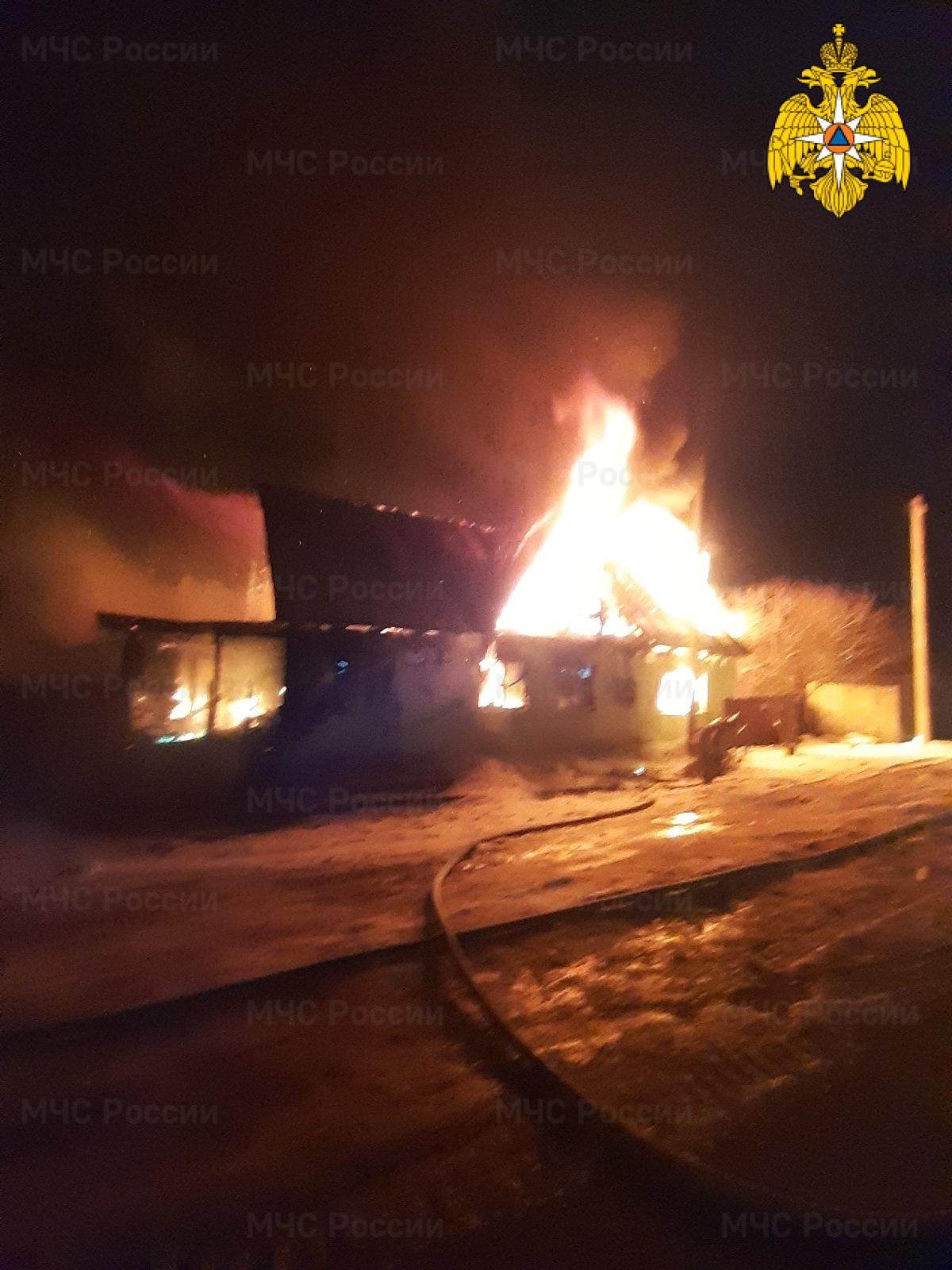Пожар в Мещовском районе, г. Мещовск, ул. Карла Маркса