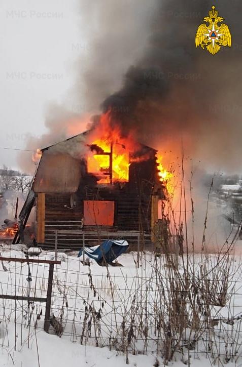 Пожар в Бабынинском районе, с. Сабуровщино