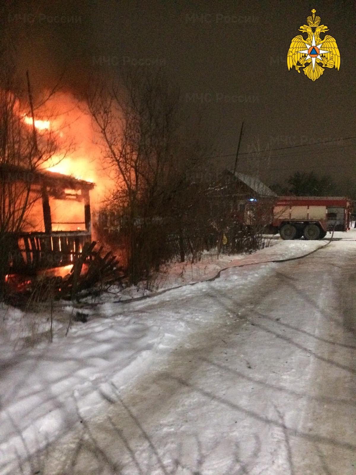 Пожар в г. Малоярославец, ул. 2-ая Аэродромная