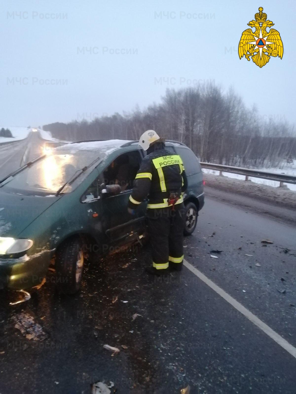 Спасатели МЧС принимали участие в ликвидации ДТП в Бабынинском районе, 203 км автодороги М-3 «Украина»