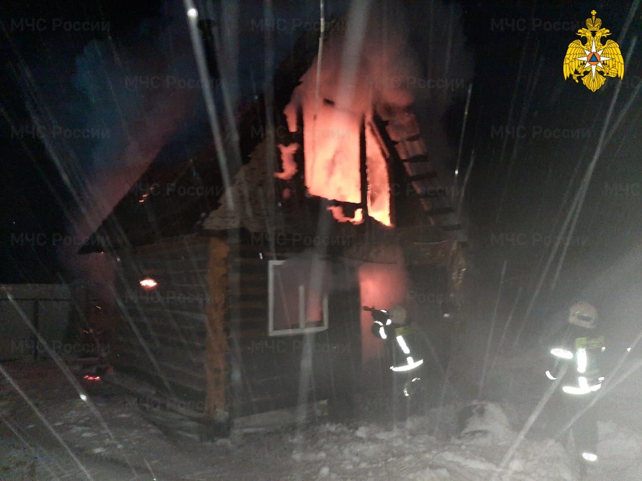 Пожар в Козельском районе, д.Попелево, ул. Молодежная