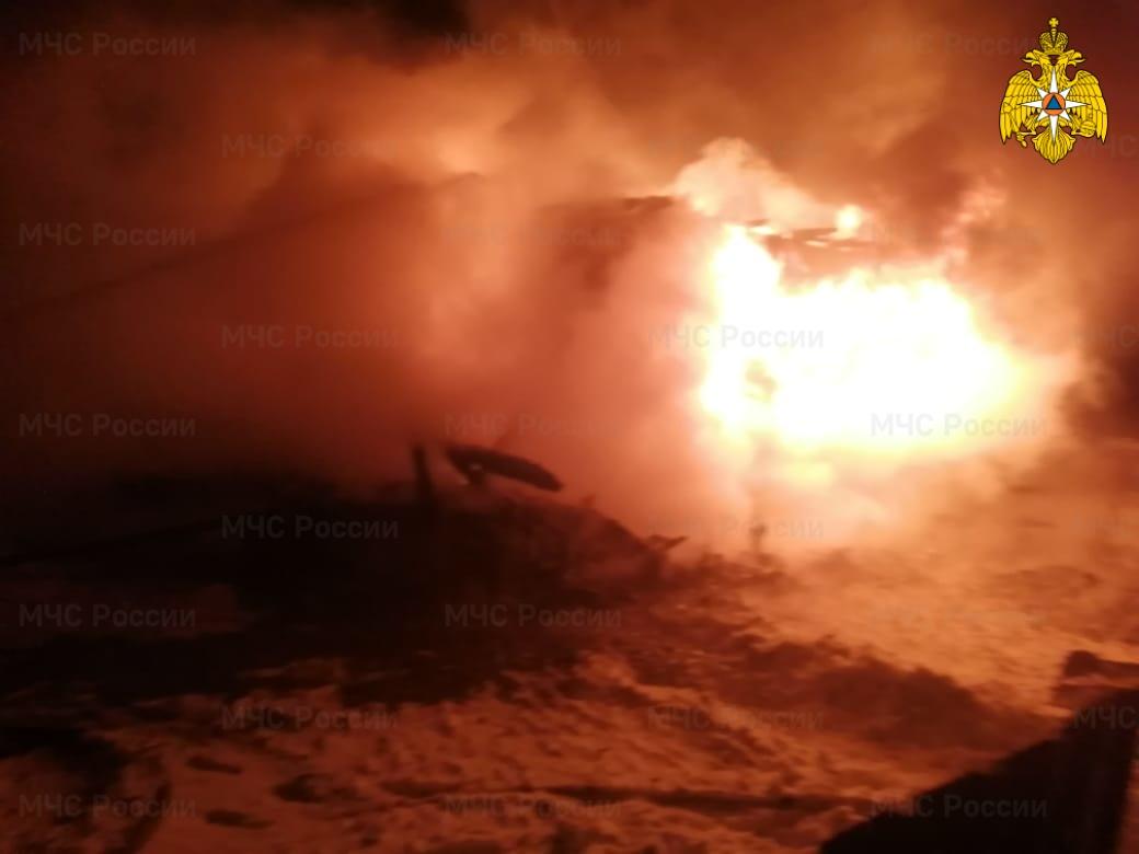 Пожар в Хвастовичском районе, д. Бояновичи, ул. Ленина