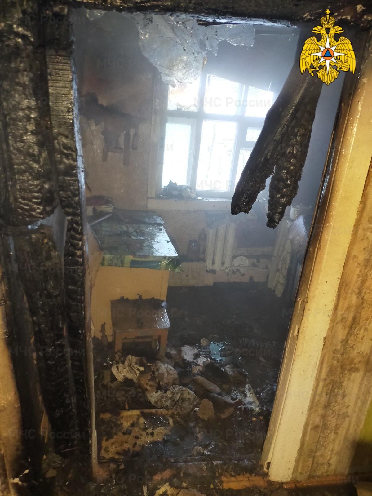 Пожар в  Малоярославецком районе, г. Малоярославец, ул. Мичурина