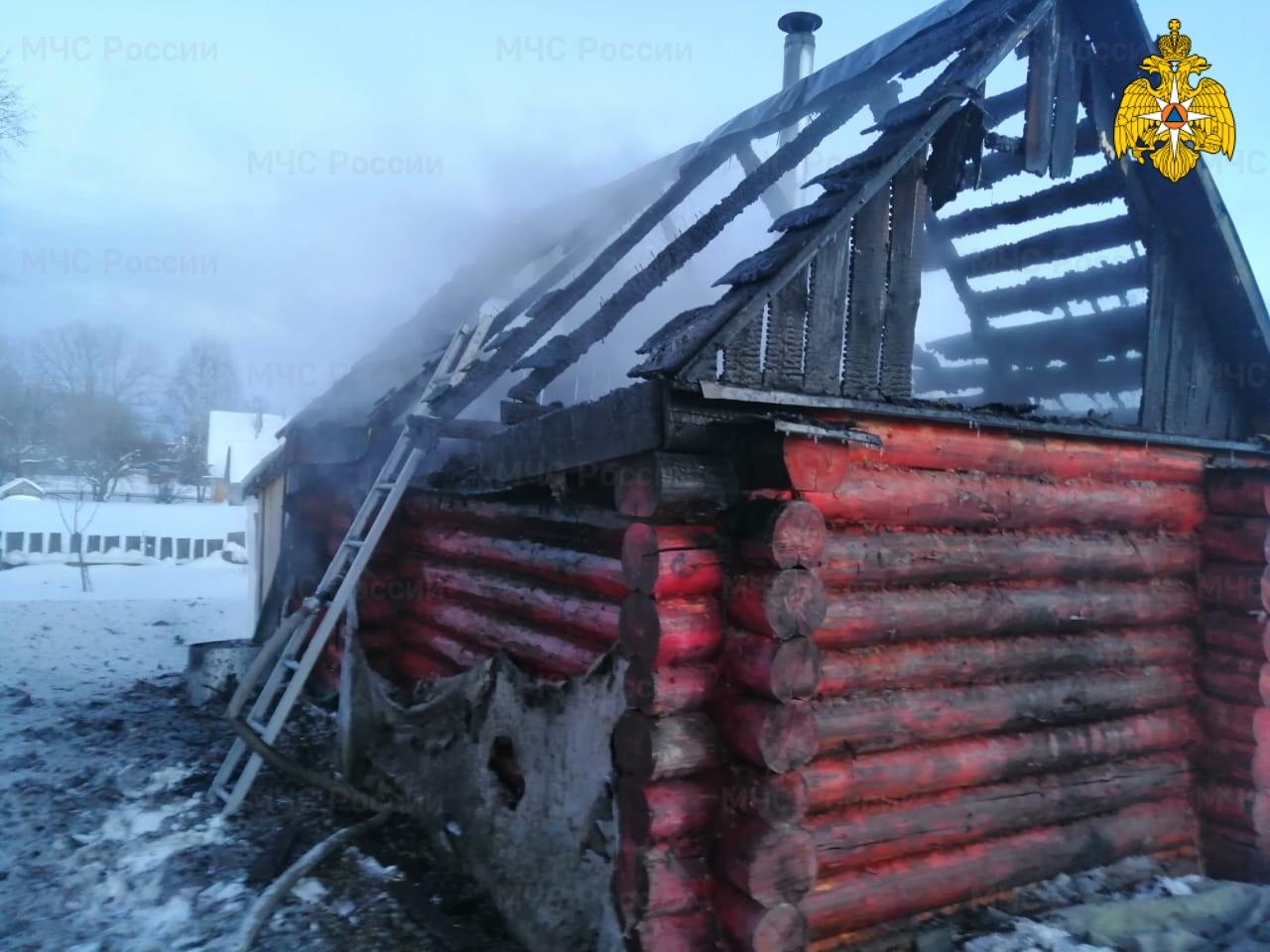 Пожар в г. Жиздра, ул. Урицкого