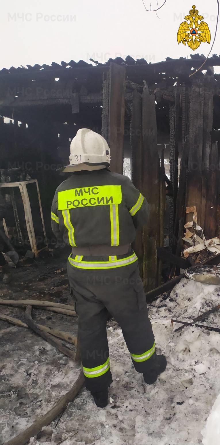 Пожар в г. Хвастовичи, ул. Совхозная