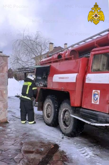 Пожар в Ферзиковском районе, д. Криуша, ул. Лазурная