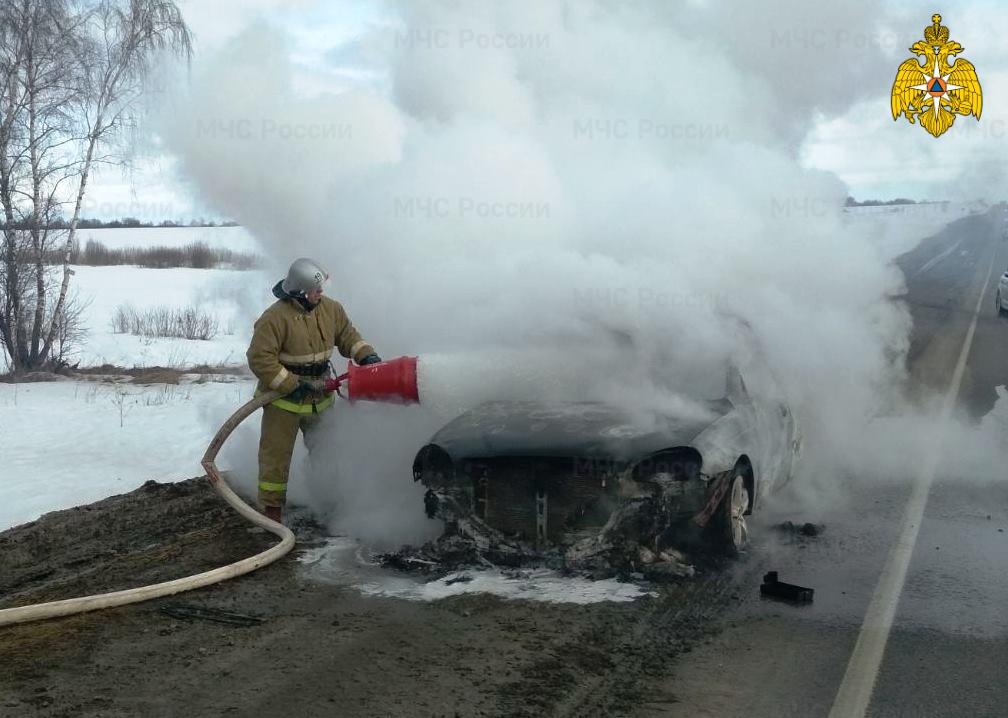 Пожар в Мещовском районе, 217 км автодороги М-3 «Украина»