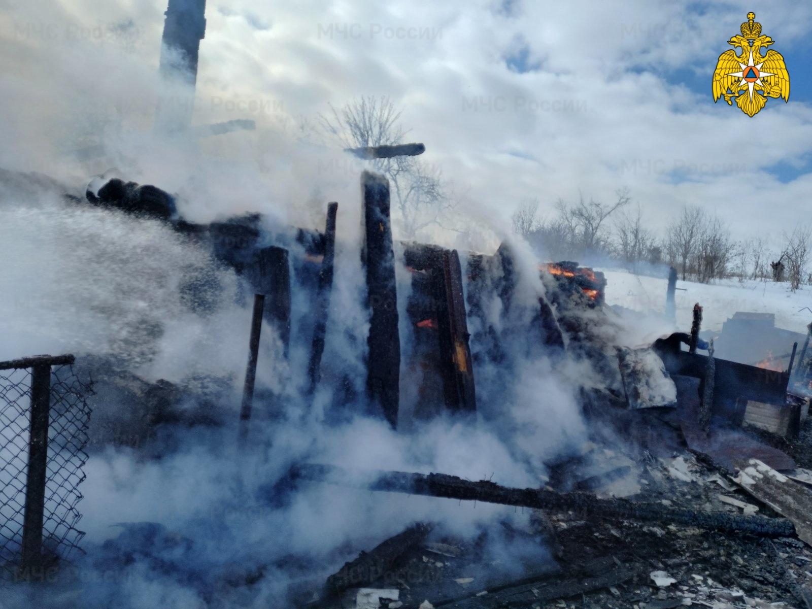 Пожар в Бабынинском районе, д. Нижнее Сомово