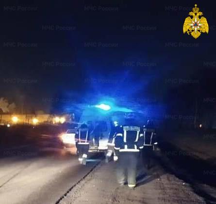 Спасатели МЧС принимали участие в ликвидации ДТП в Боровском районе, 87 км автодорога М-3 «Украина»