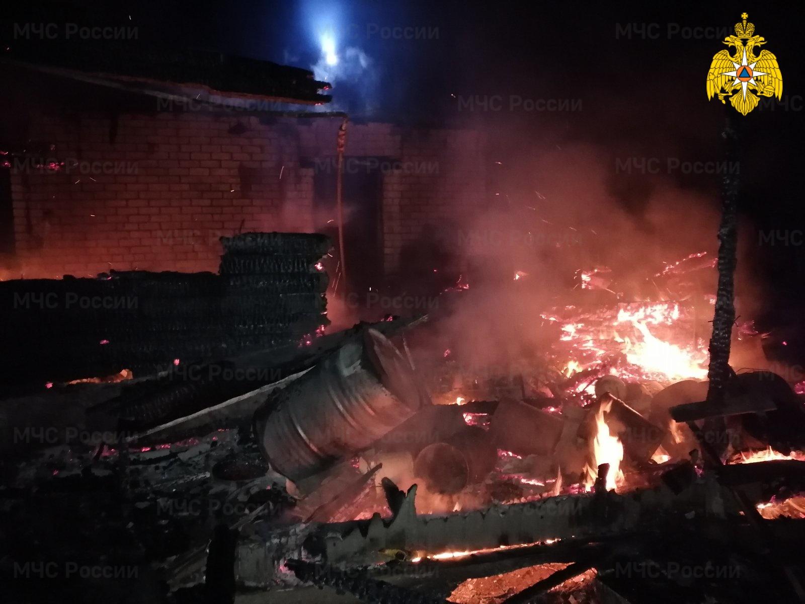 Пожар в Ферзиковском районе, д. Новая