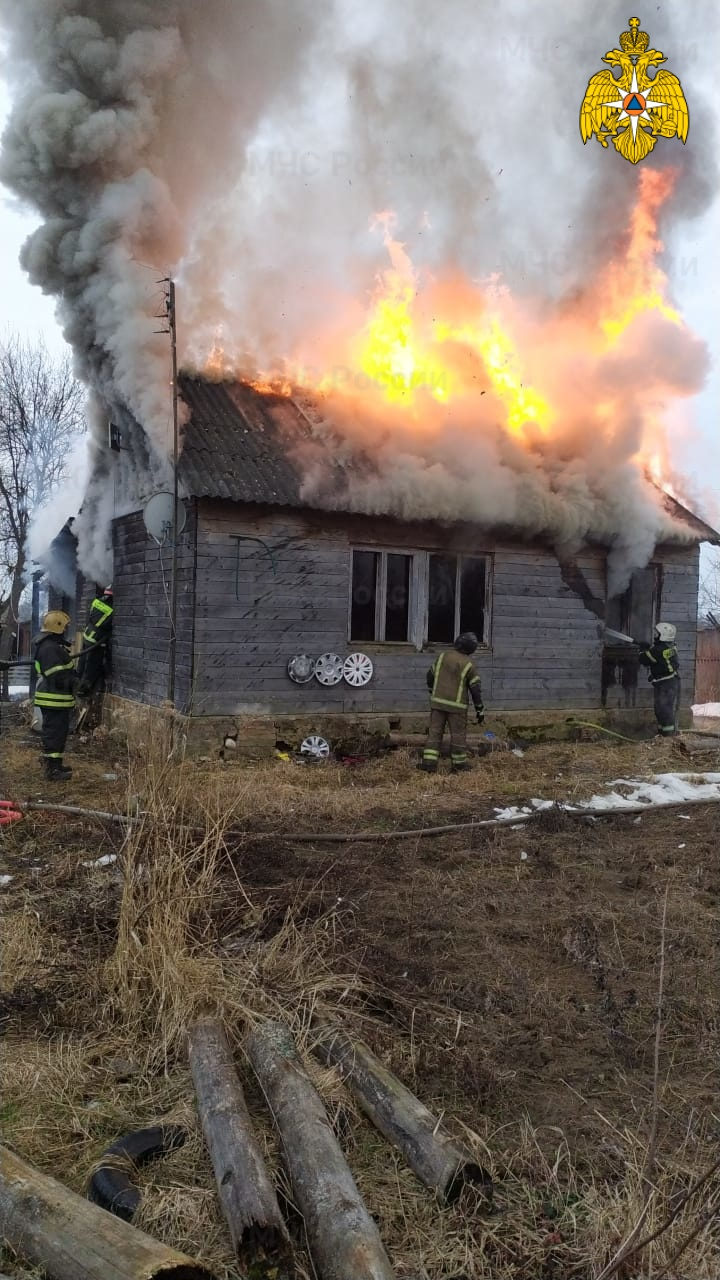 Пожар в Боровском районе, д. Уваровское, ул. Советская