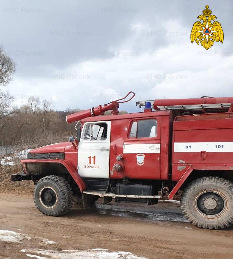 Пожар в Боровском районе, д. Аграфенино, ул. Горная