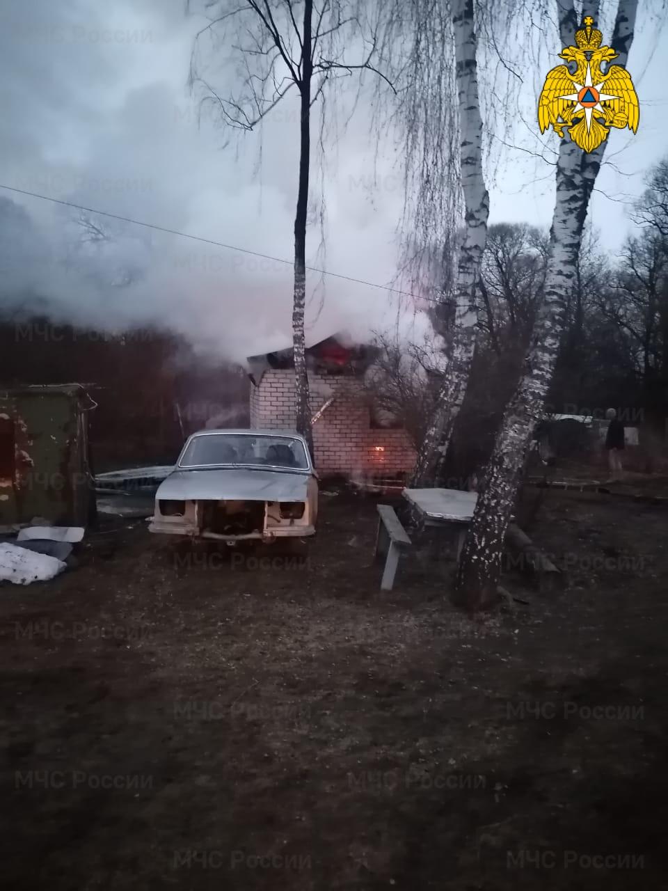 Пожар в п. Думиничи, ул. Ильина