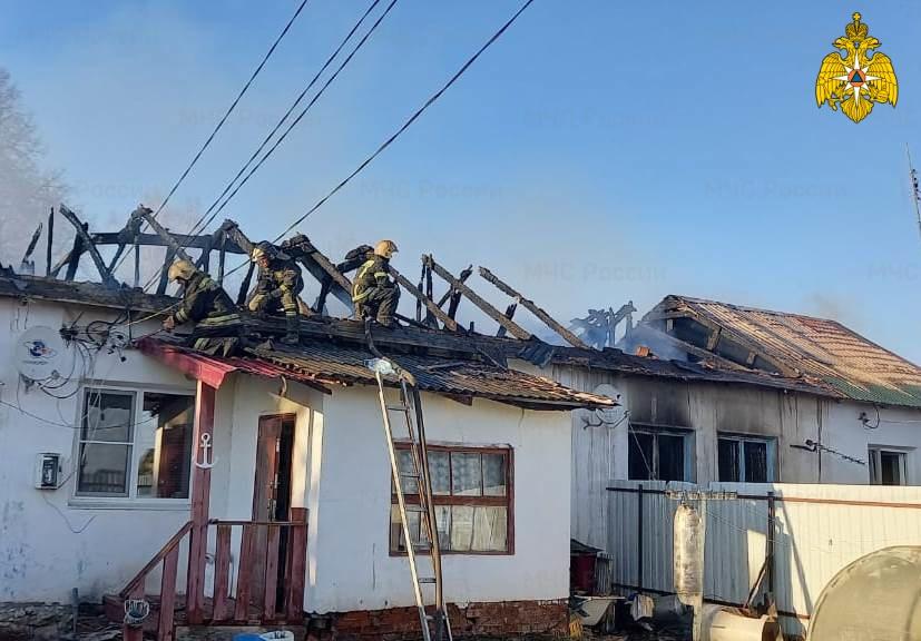 Пожар в Боровском районе, д. Абрамовское, ул. Школьная