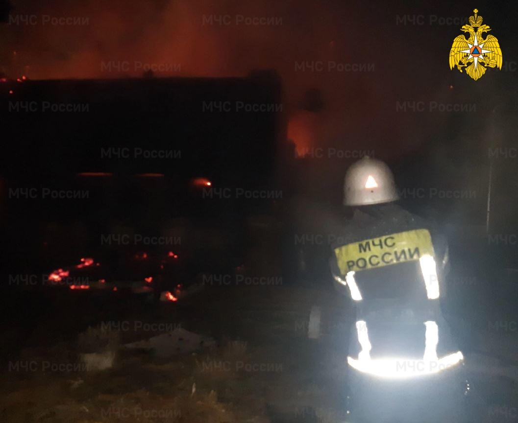 Пожар в Тарусском районе, д. Коломнино, ул. Соснова