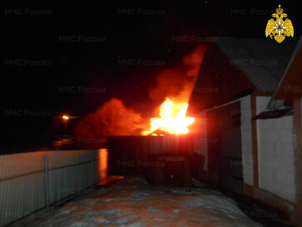 Пожар в Ферзиковском районе, п. Ферзиково,  ул. Соломатина