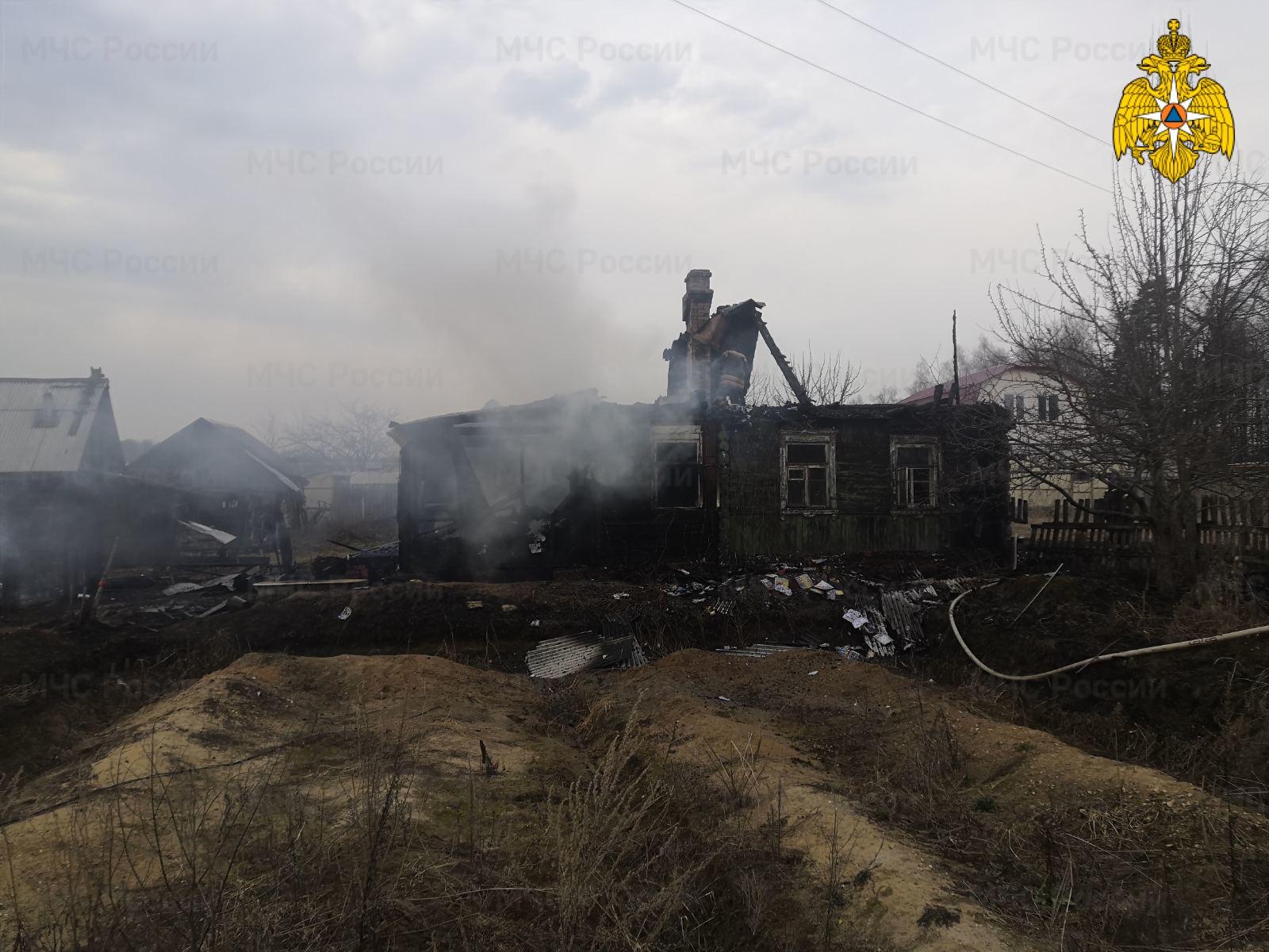 Пожар в г. Жуков, ул. Сельская