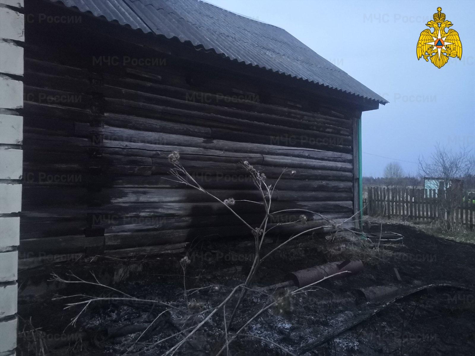 Пожар в Жуковском районе, д. Екатериновка