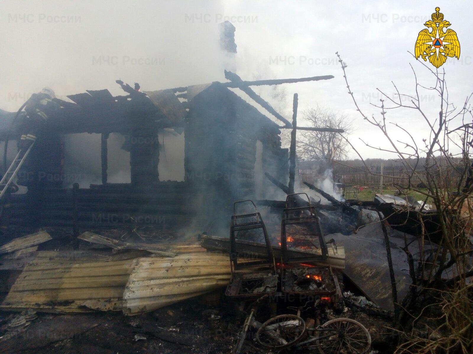 Пожар в Медынском районе, д. Насоново