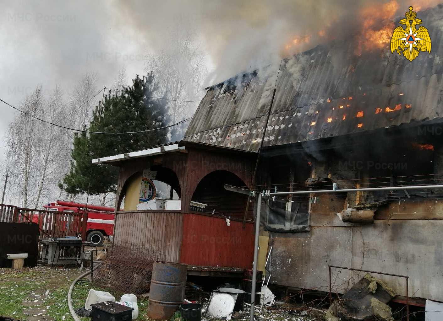 Пожар в Жуковском районе, СНТ «Надежда-3»