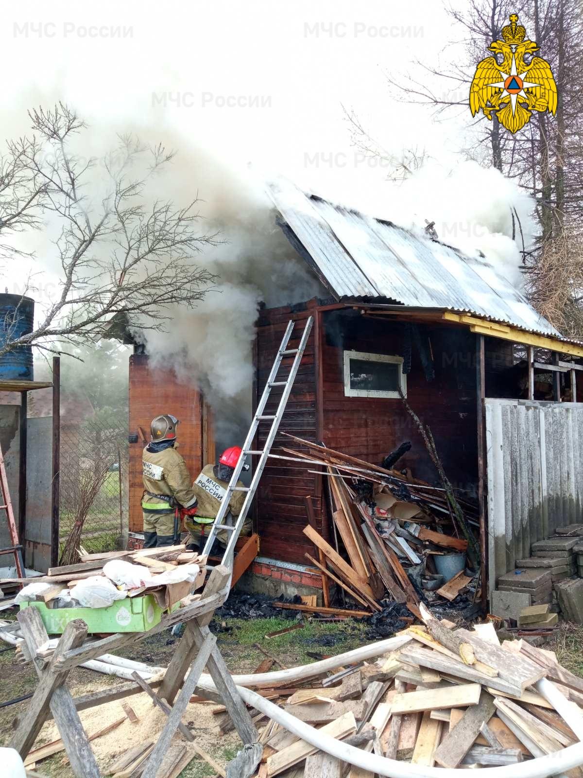 Пожар в Жуковском  районе, СНТ « Надежда-2»
