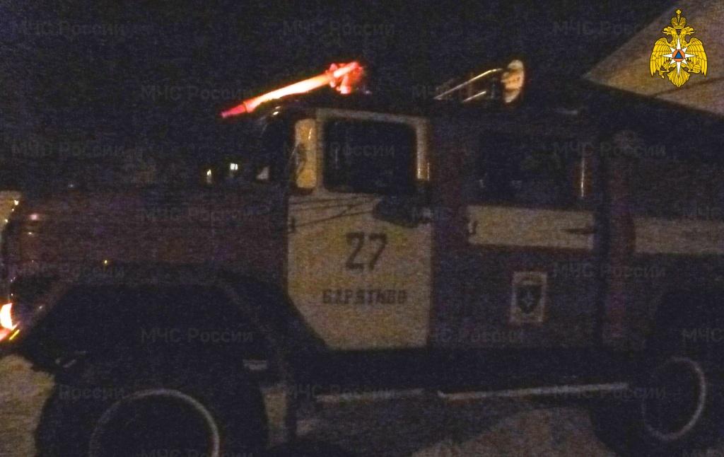 Пожар в Барятинском районе, с. Барятино, ул. Картошкина