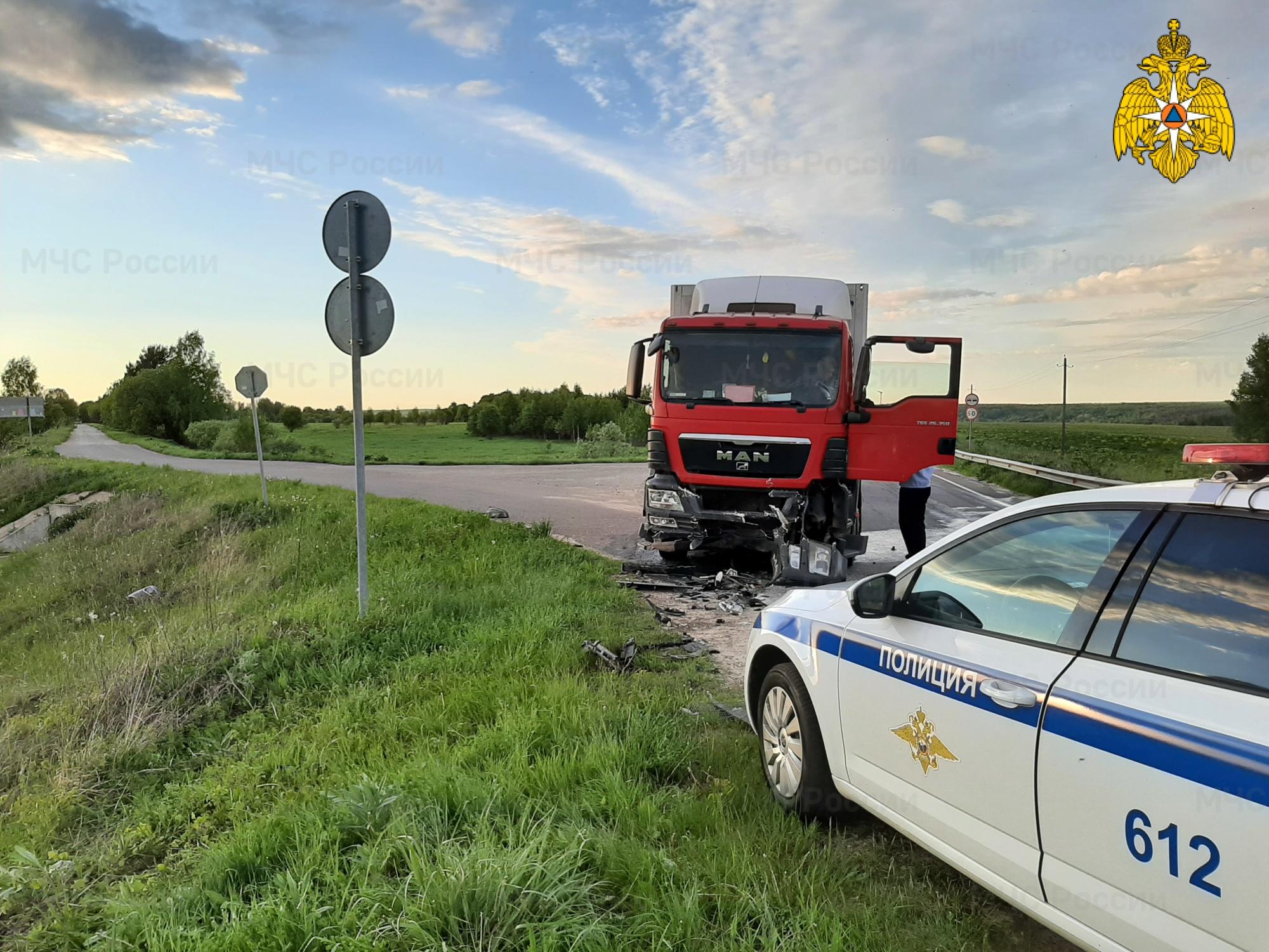 ДТП в Козельском районе, 12 км автодорога «Козельск-Кудринская»