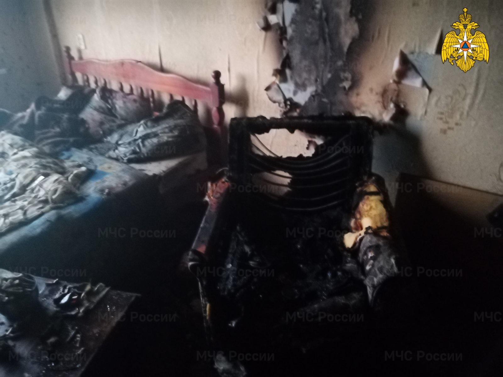 Пожар в Дзержинском районе, г. Кондрово, ул. Пушкина