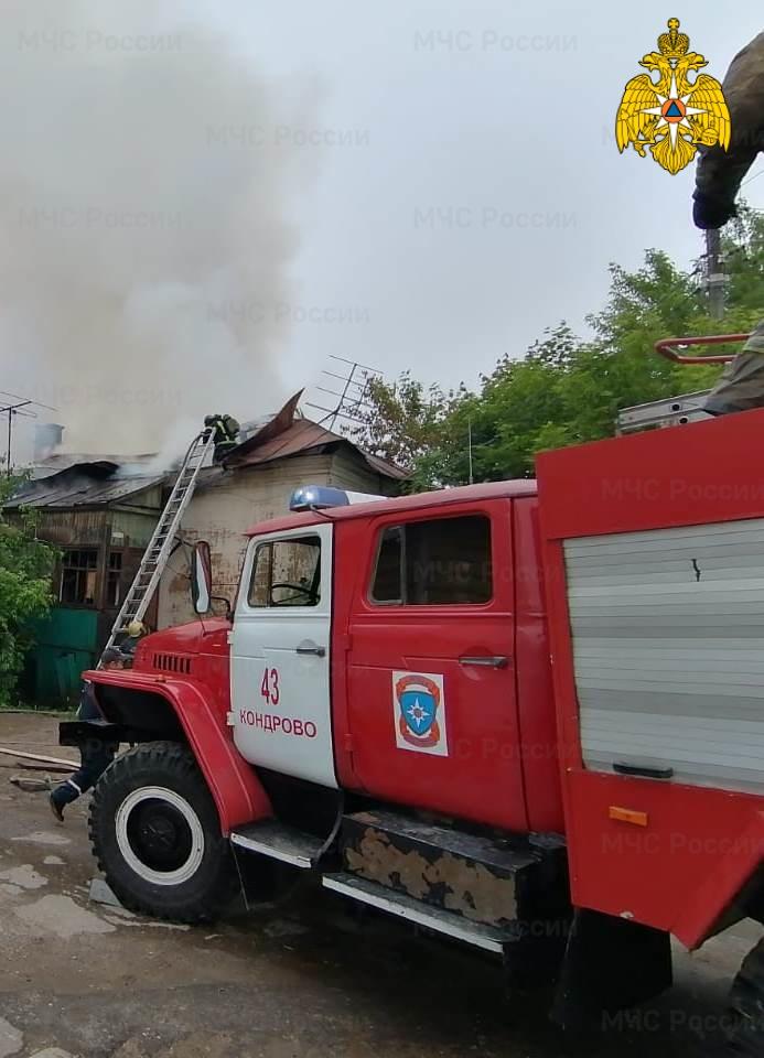 Пожар в Дзержинском районе, г. Кондрово, ул. Кооперативная
