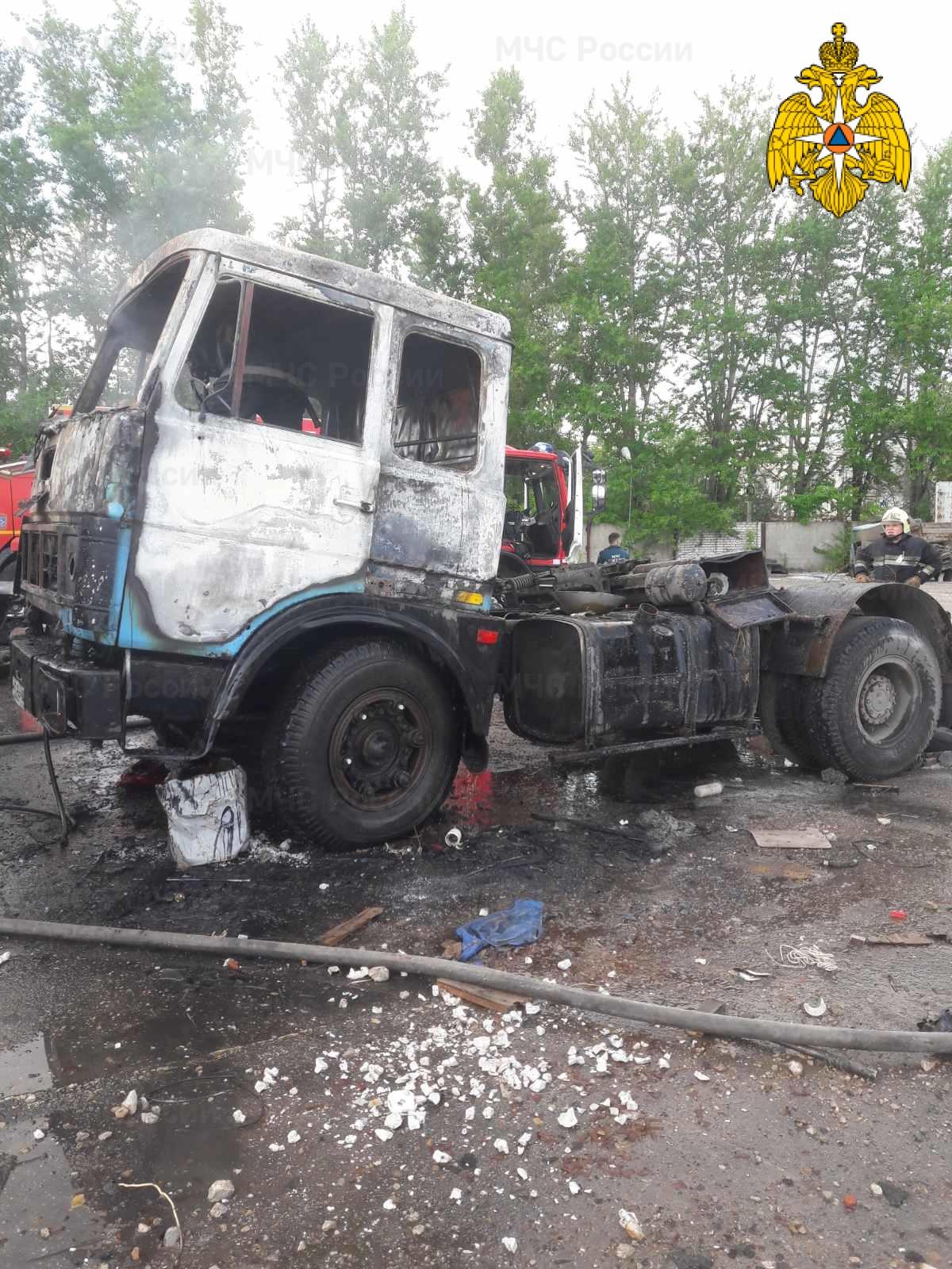 Пожар в г. Калуга, ул. Азаровская