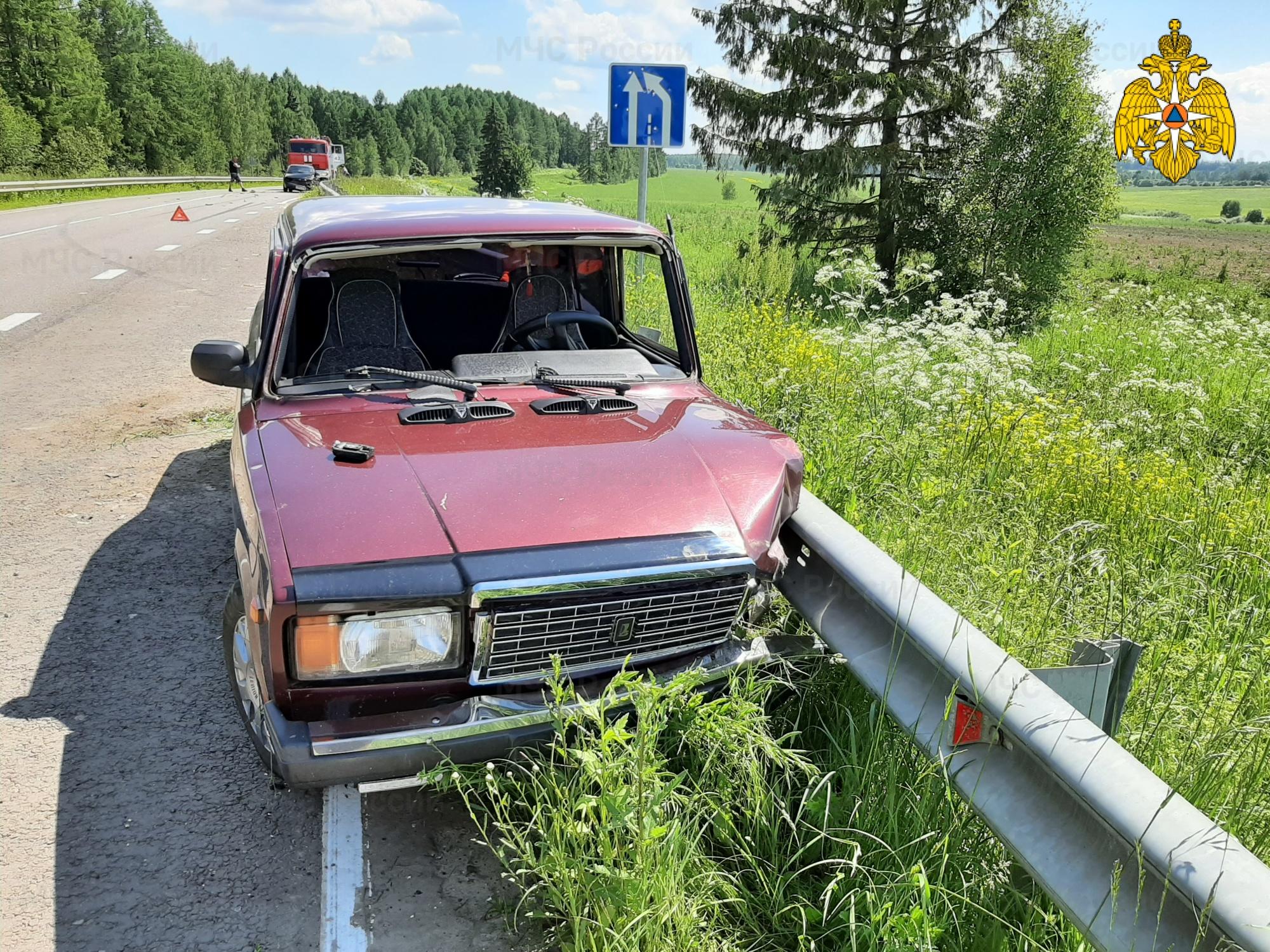 ДТП в Козельском районе, 8 км автодороги «Козельск-Кудринская»