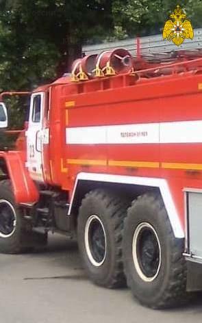 Пожар в г. Сухиничи, ул. Буденного