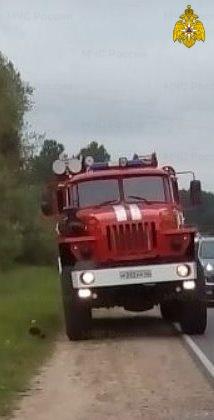 Спасатели МЧС принимали участие в ликвидации ДТП в г. Сухиничи, ул. Марченко