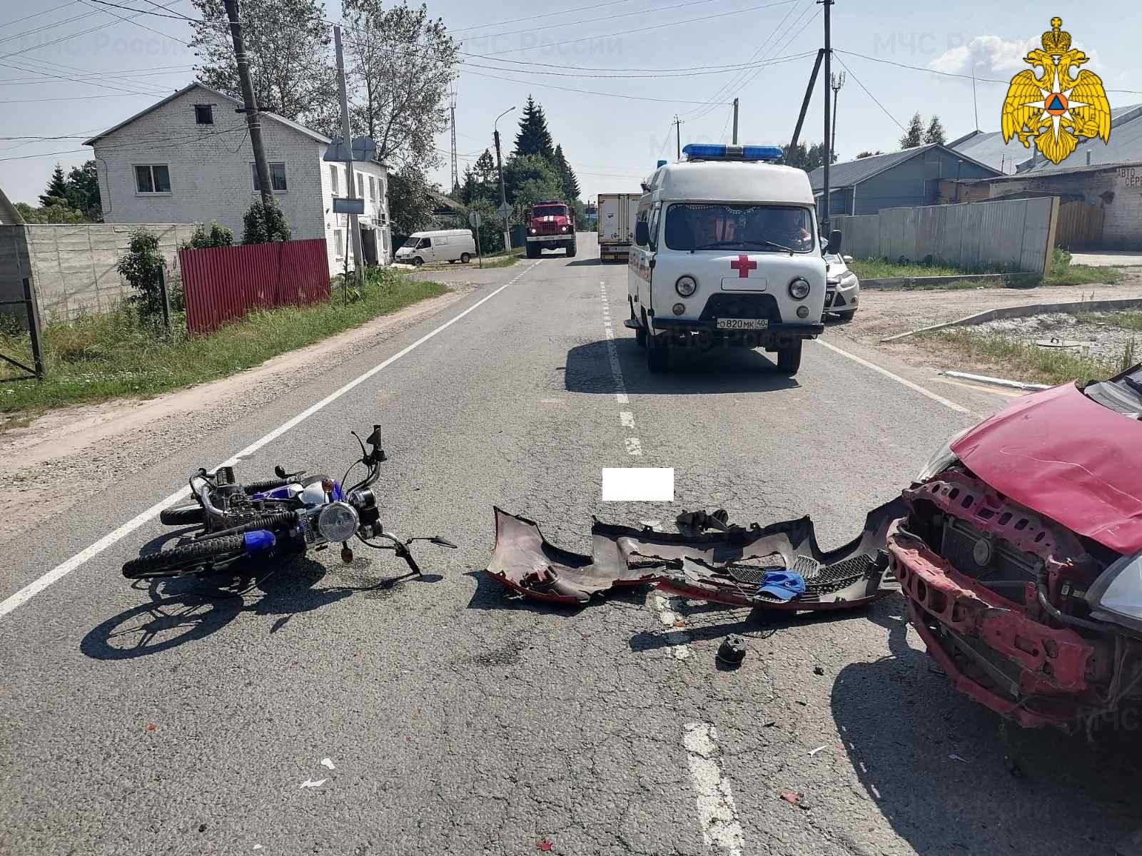 Спасатели МЧС принимали участие в ликвидации ДТП в п. Ферзиково, ул. Ленина