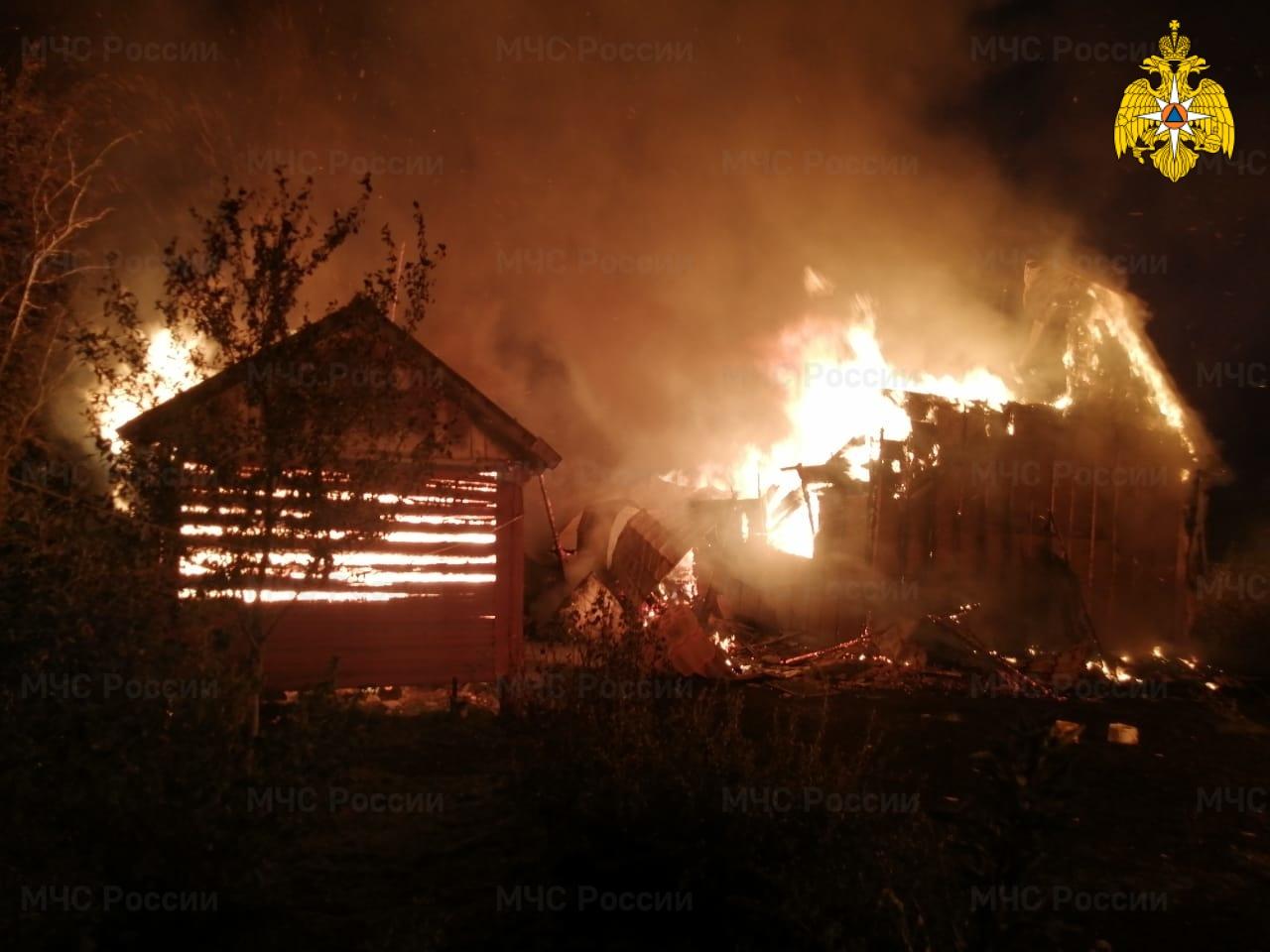 Пожар в Жуковском районе, д. Тайдашево