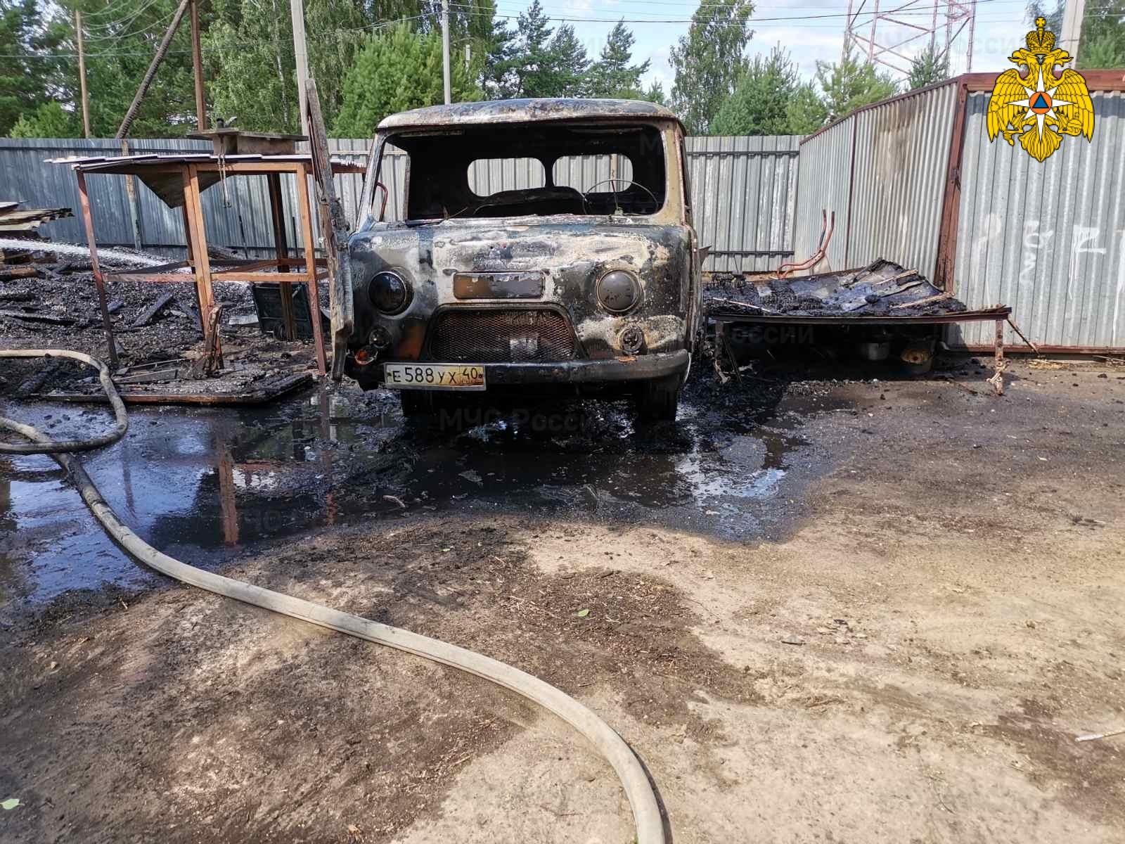 Пожар в Жуковском районе, с. Высокиничи, Молодежный переулок
