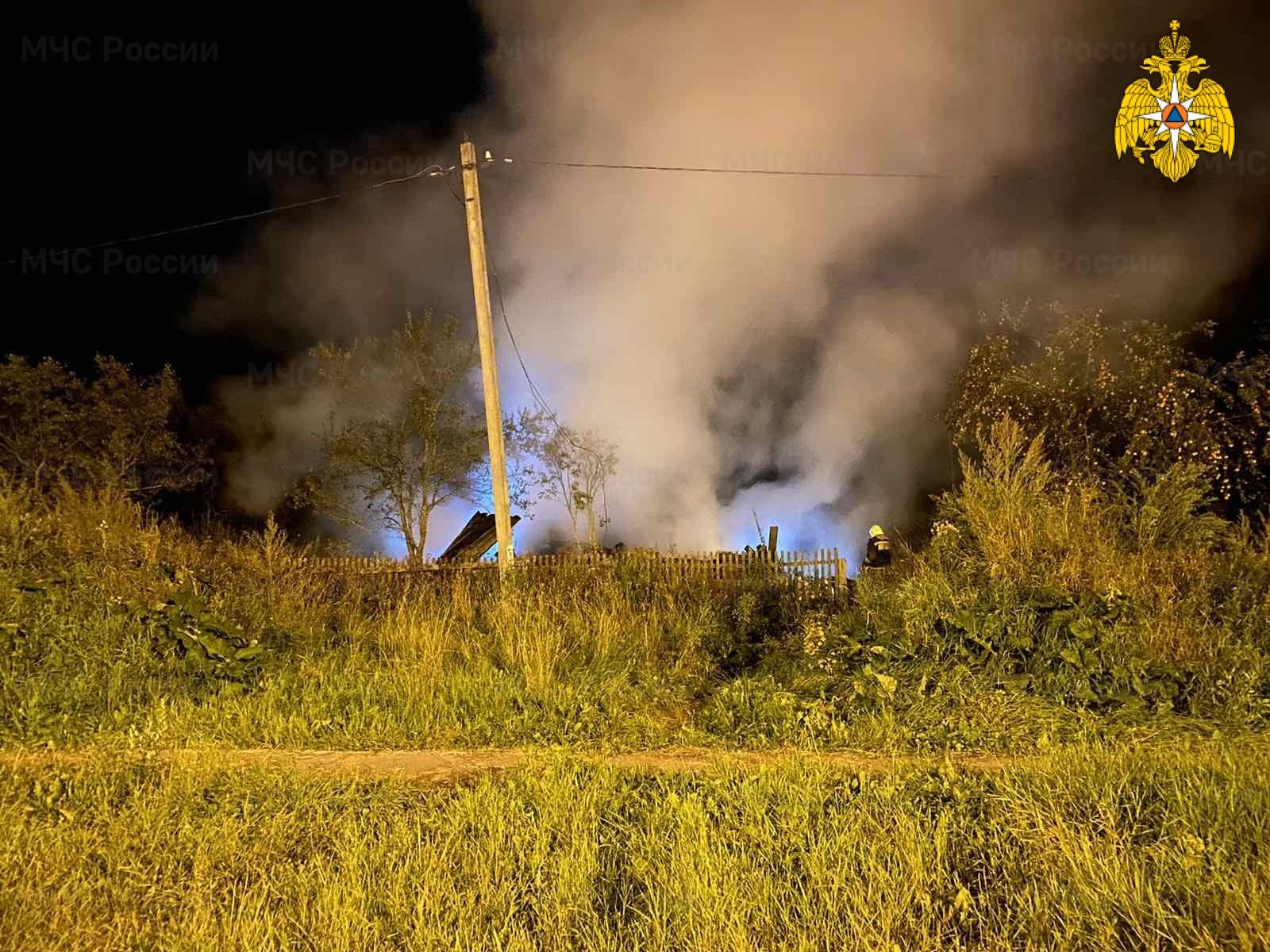 Пожар в Мосальском районе, д. Людково, ул. Шоссейная