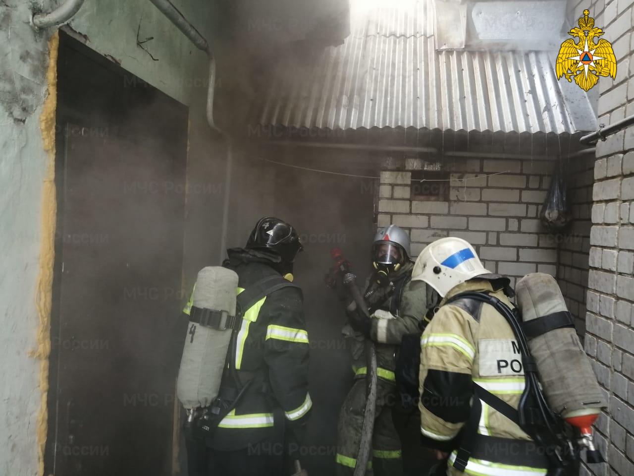 Пожар в г. Людиново, ул. Фридриха Энгельса