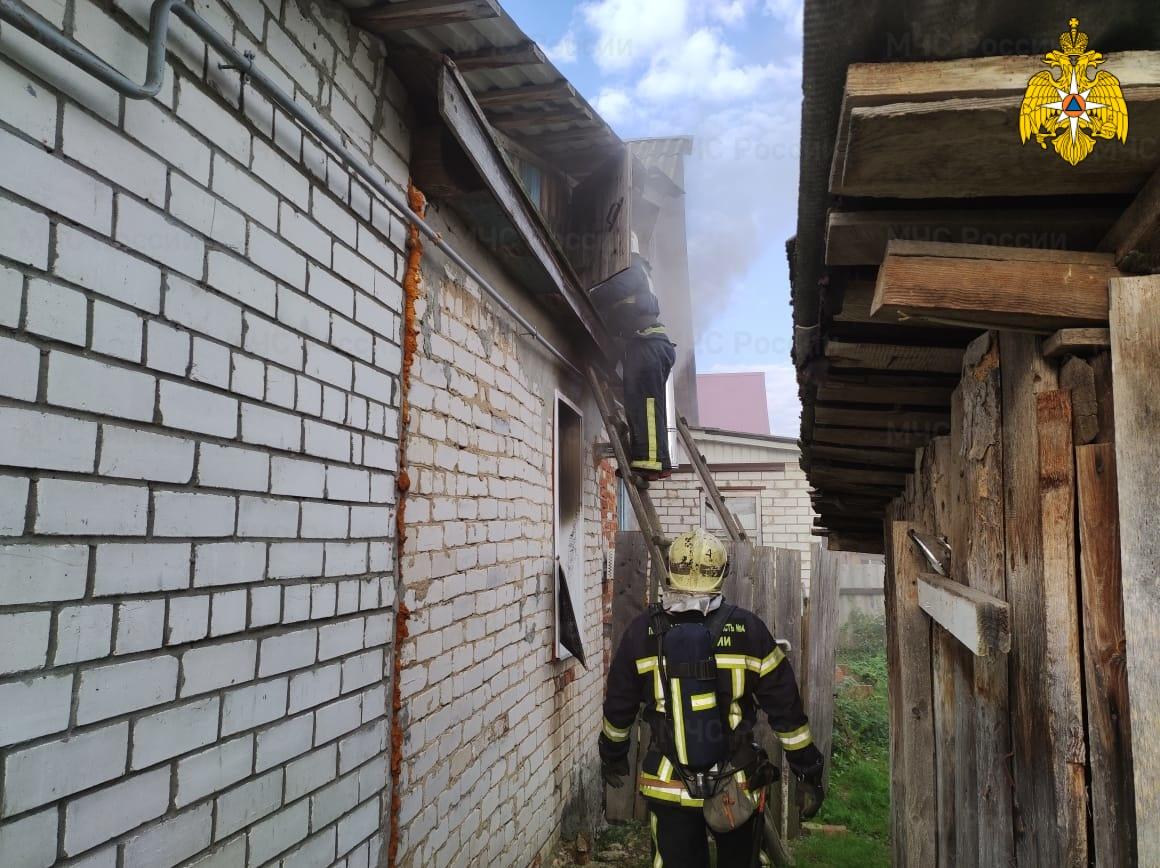 Пожар в г. Людиново, ул. Кирова
