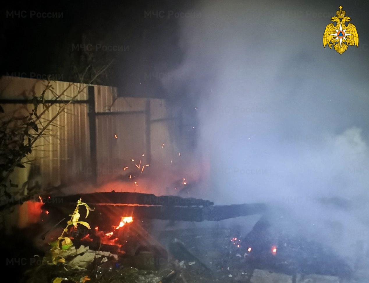 Пожар в Малоярославецком районе, СНТ «Лесовик»